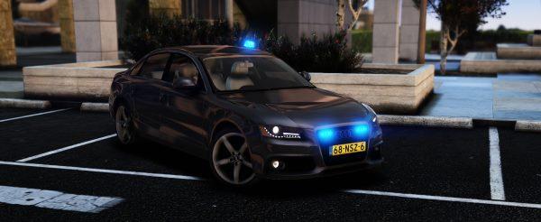 Unmarked Audi A4 [Unlocked] [ELS] 1.1 для GTA 5