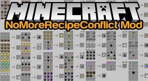 No More Recipe Conflict для Майнкрафт 1.11.2