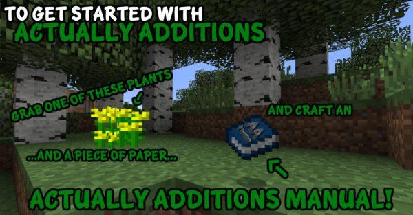 Actually Additions для Майнкрафт 1.11.2