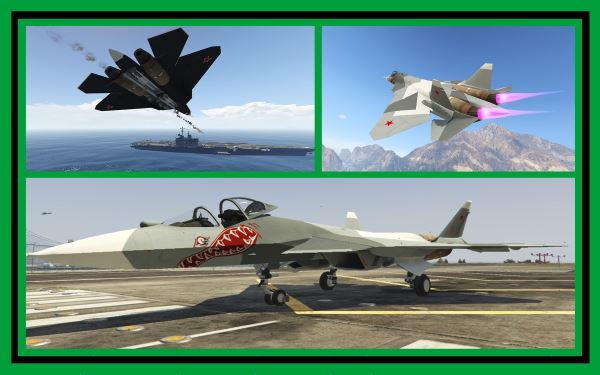 Sukhoi PAK FA / T-50 [Add-On] для GTA 5