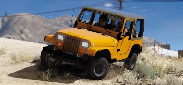 Jeep Wrangler 1986 [Replace   4 Extras] для GTA 5