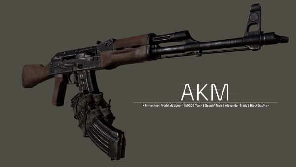 AKM-7 .62 (Assault Rifle) [2K | High poly] 1.2 для GTA 5