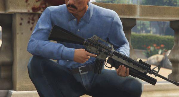 M16A2 + M203 для GTA 5