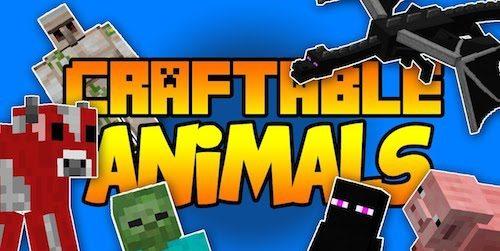 Craftable Animals для Майнкрафт 1.11.2