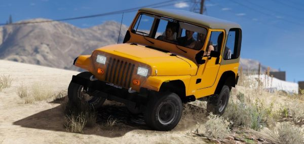 Jeep Wrangler 1986 [Add-On / Replace | 7 Extras] 1.2 для GTA 5