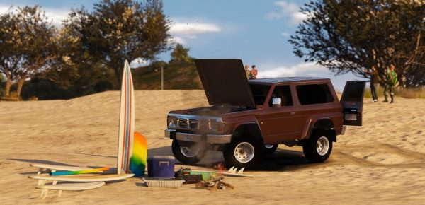 Nissan Patrol Y60 Off Road 1994 [Add-On / Replace | 7 Extras] 1.5 для GTA 5