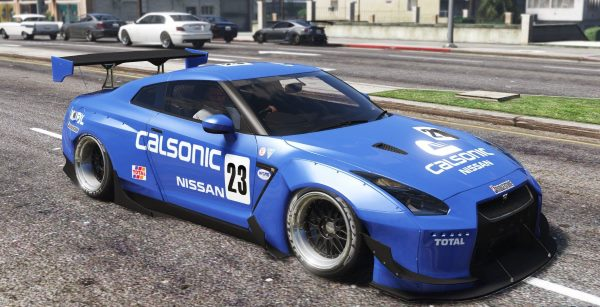 2010 Nissan GT-R Spec-V Pandem [Add-On / Replace | Template | RHD] 2.5 для GTA 5