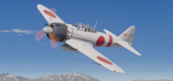 Mitsubishi A6M5 Zero (Attack on Pearl Harbor) [Add-On] 1.1 для GTA 5
