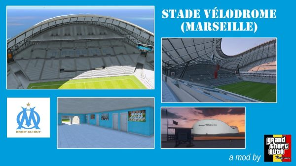 Stade Orange Vélodrome Marseille (Soccer Stadium) для GTA 5