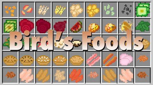 Bird's Foods для Майнкрафт 1.11.2