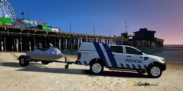 Portuguese Public Security Police JetSki + Trailer [Add-On] 2.0 для GTA 5