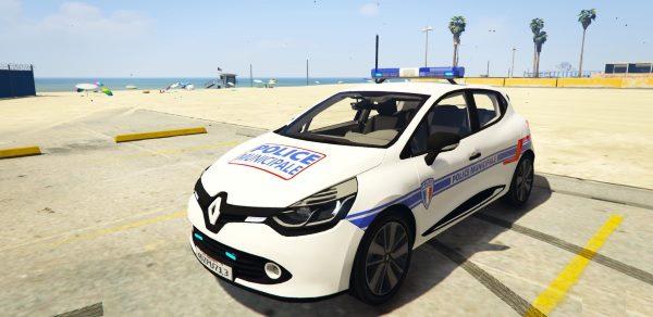Clio 4 Police Municipale [ELS] для GTA 5