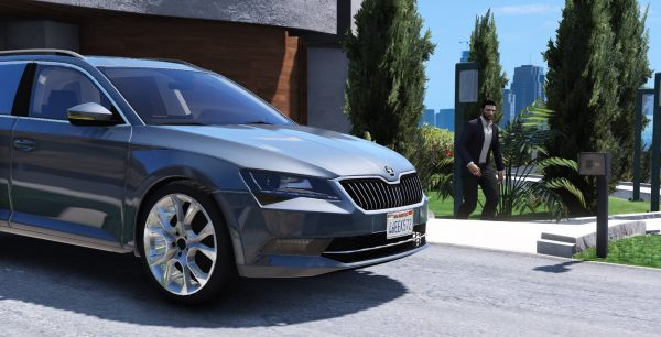 2016 Škoda SuperB Combi [Replace] для GTA 5
