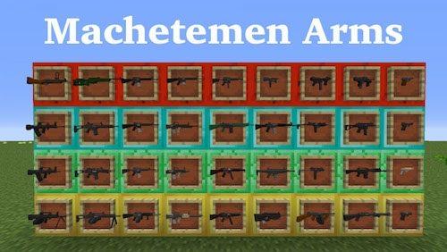 Machetemen Arms для Майнкрафт 1.7.10