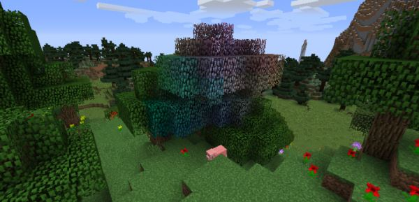 Rainbow Oak Trees для Майнкрафт 1.11.2