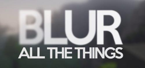 Blur для Майнкрафт 1.11.2