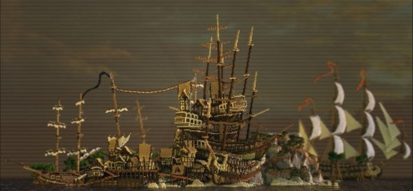 Ship stack shanty town для Майнкрафт 1.11.2