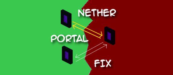 NetherPortalFix для Майнкрафт 1.12
