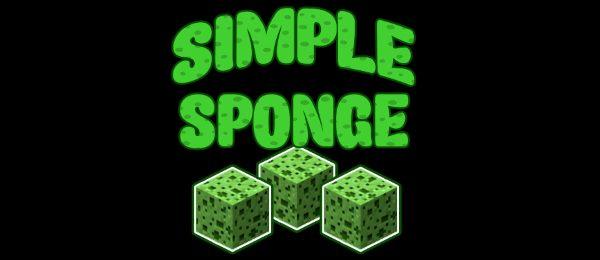 Simple Sponge для Майнкрафт 1.12