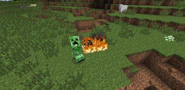Creepers Fire для Майнкрафт 1.12