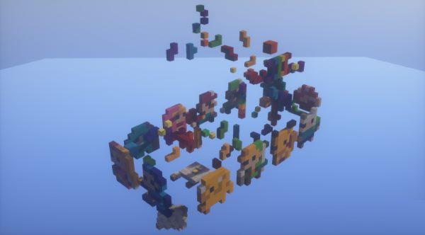 8-Bit Parkour для Майнкрафт 1.12
