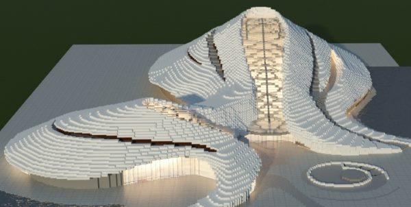 Harbin Grand Theater для Майнкрафт 1.12