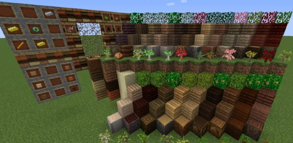 The Natural Woods для Майнкрафт 1.11.2