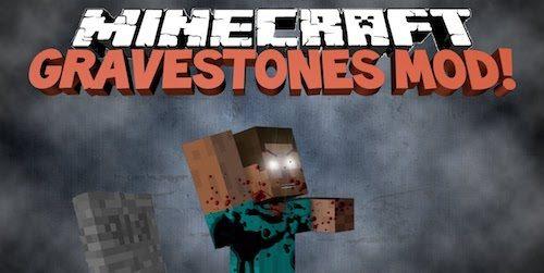 Gravestone - Graves для Майнкрафт 1.12