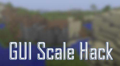 GUI Scale Hack для Майнкрафт 1.12
