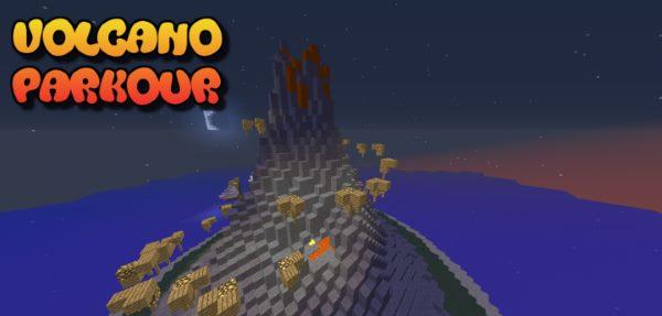 Volcano Parkour для Майнкрафт 1.12