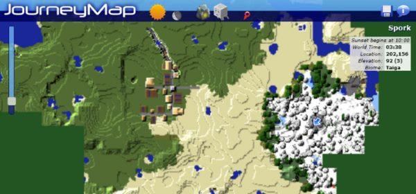 JourneyMap для Майнкрафт 1.12.1