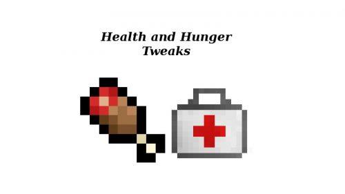 Health and Hunger Tweaks для Майнкрафт 1.12.1