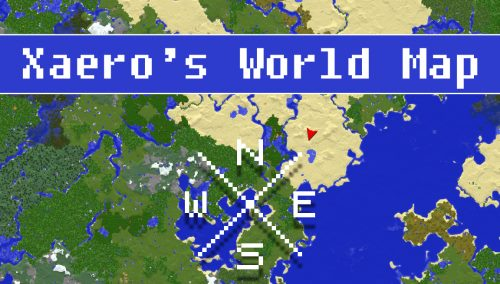 Xaero's World Map для Майнкрафт 1.12.1