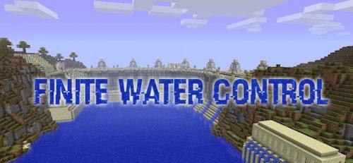 Finite Water Control для Майнкрафт 1.12