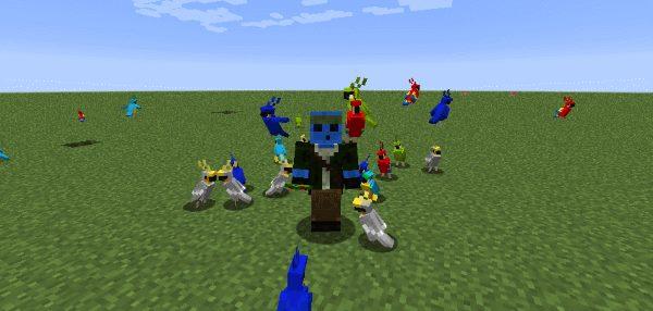 Party Parrots для Майнкрафт 1.12.1