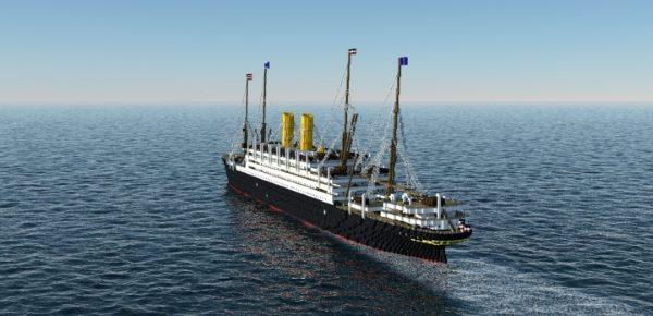 SS Kaiserin Auguste Victoria для Майнкрафт 1.12.1