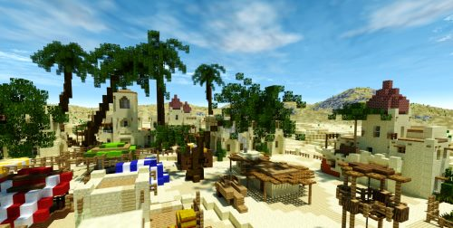 Arabian Village in Desert для Майнкрафт 1.12.1