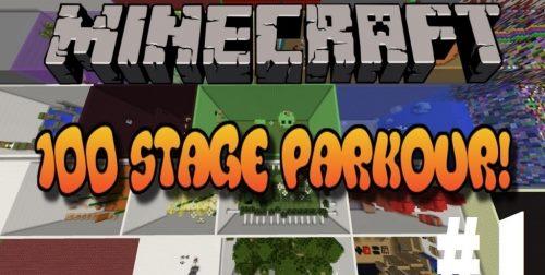 100 Stage Parkour для Майнкрафт 1.12.1