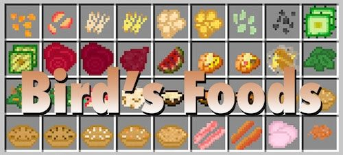 Bird's Foods для Майнкрафт 1.12.2