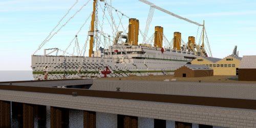 HMHS Britannic at Southampton для Майнкрафт 1.12.2