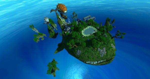 Floating Whale Village для Майнкрафт 1.12.2