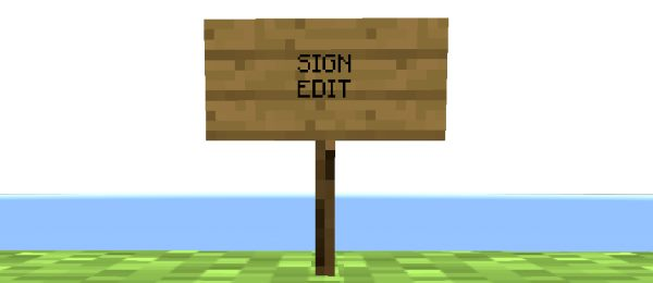 SignEdit для Майнкрафт 1.12.2