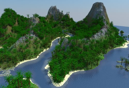 Tropic Volcano-Island для Майнкрафт 1.12.2