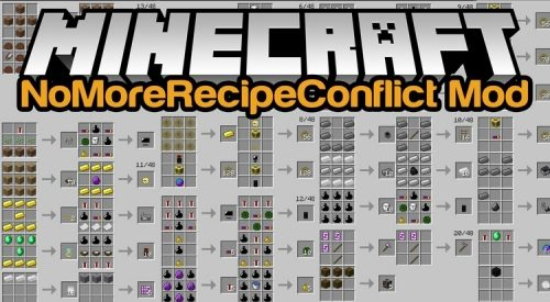 No More Recipe Conflict для Майнкрафт 1.12.2