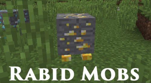 Rabid Mobs для Майнкрафт 1.11.2