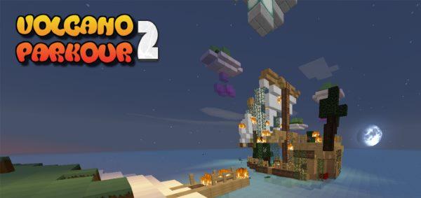 Volcano Parkour 2 для Майнкрафт 1.12.2