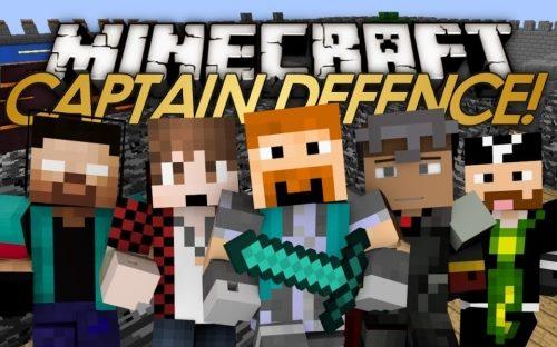 Captain Defence для Майнкрафт 1.12.2