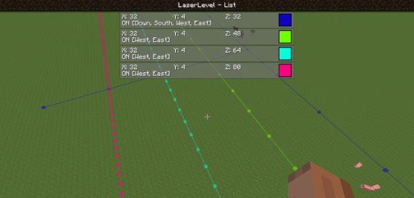 Laser Level для Майнкрафт 1.12.2