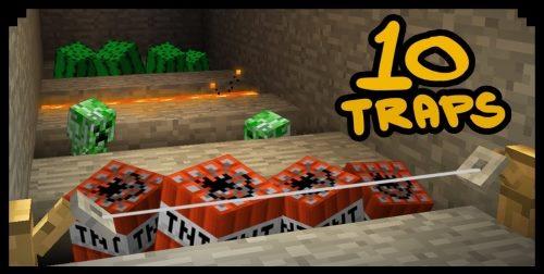 10 Minecraft Traps 2 для Майнкрафт 1.12.2