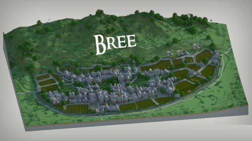 Bree Town для Майнкрафт 1.12.2